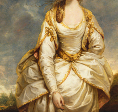 jaded-mandarin:  Portrait of Sarah Campbell - Sir Joshua Reynolds. Detail.