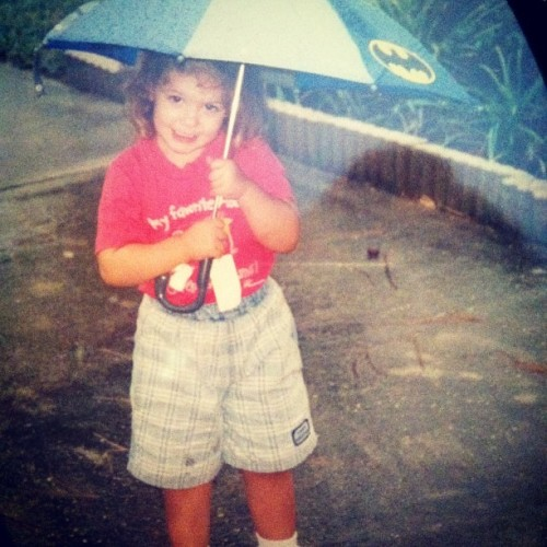 Throwback to another rainy day. Rockin my batman umbrella #tbt #batmanumbrellaftw