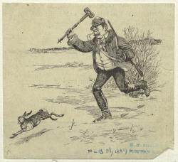 Image Title:  Man Chasing Rabbit Published Date: 1889