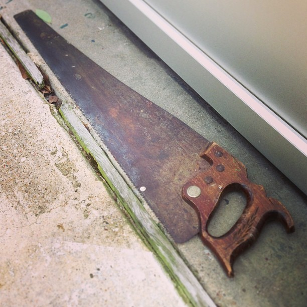 I just found this saw neatly laid out in front of my shop door. #MysteryPresents #Thanks
