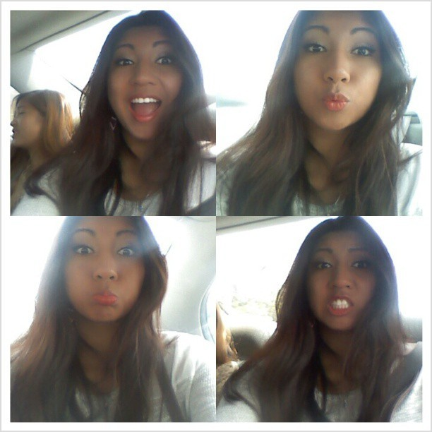 Bored in the car :P #justme #cassy #noedits #funnyfaces  (at MyWorld)
