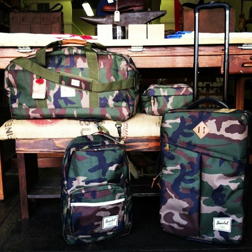 Step up your luggage game with new Herschel  #camo bags for spring. (at Genterie Supply Co.)
