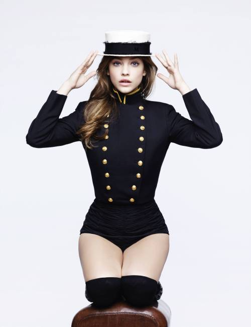 suicideblonde:  Barbara Palvin photographed by Karl Lagerfeld