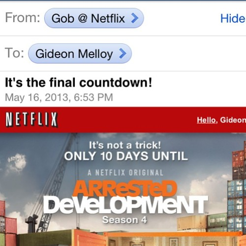 gideonmelloy:  I'm afraid I just blue myself with excitement. #arresteddevelopment #aghhh