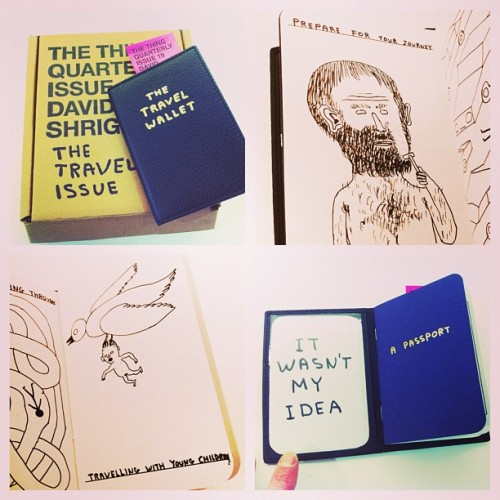 THE THING QUARTERLY Issue 19: DAVID SHRIGLEY The Travel Issue. Wallet design by Matt Singer. #colettebooks #davidShrigley #mattSinger #colette #colettestore @thethingquarterly