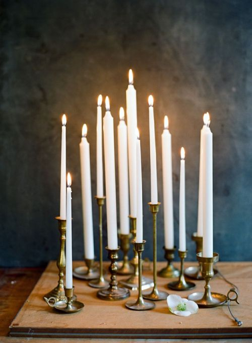photo by ali harper  I love how candles make everything so intimate