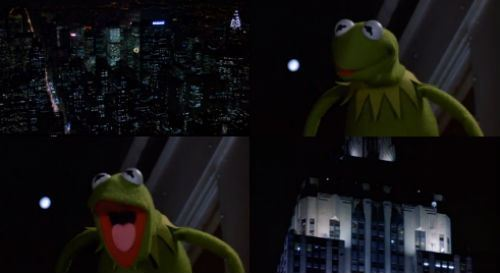 oldfilmsflicker:   Kermit the Frog: I'm stil here and I'm staying! You hear that, New York? I'm staying here. THE FROG IS STAYING!  Movie Quote of the Day – The Muppets Take Manhattan, 1984 (dir. Frank Oz) « the diary of a film history fanatic