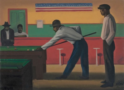 Mexican Pool Room Chicago, 1927, Chicago. Herman Menzel