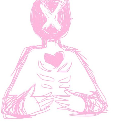 [ #art #artist #drawing #doodle #digital #heart #x #pink #ribs #ribcage #iphoneart #mokodraws ]