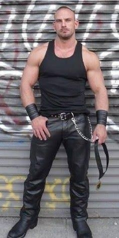 Throwback shot: wearing leather