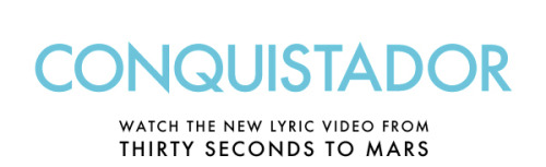 Conquistador, Official Lyric Video MORE