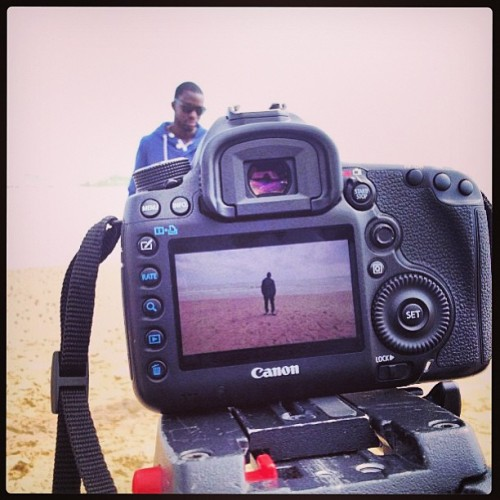 Filming the video for my next single 'Let Go' feat @seyiofficial Great day so far!!