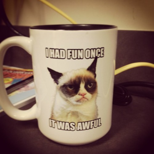 Lmao @ my Co-Workers' Mug! #grumpycat #lmao