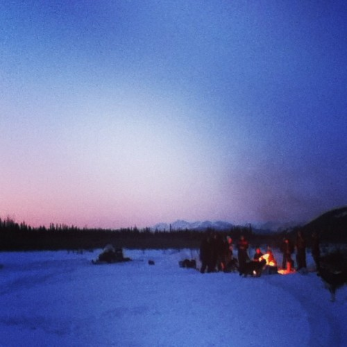 Land warming bonfire last night. So many friends and warm fuzzies! #klondike