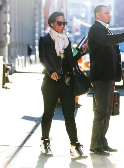 Alicia Keys out + about in SoHo NYC on Wednesday…