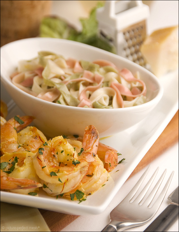 Spicy Garlic Shrimp Sauté with Butter and Saffron