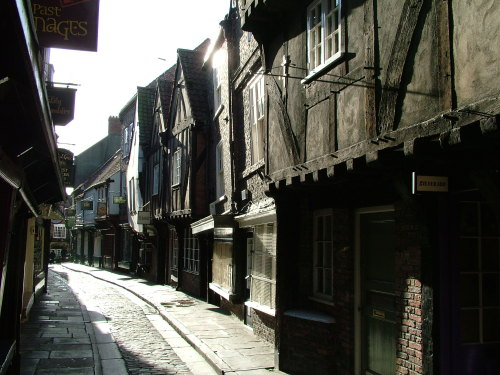 Medieval houses in York, still intact.