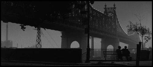 "The most beautiful shot from Woody Allen's ""Manhattan"", AKA: The Bridge Shot"