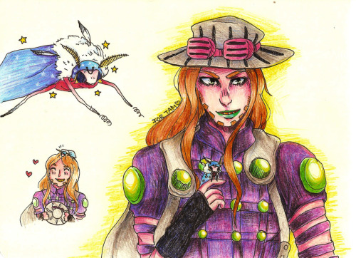 tam requested gyro with a johnny moth!!! so here it is. johnny is a HUGE moth check out tam's art over at http://giovannirammsteiner.tumblr.com/ !!!!