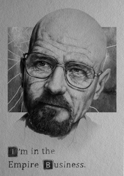 'I'm in the Empire Business'- Pencil Portrait