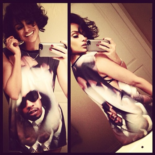 artdealerchic:  mybaby @nazaninmandi in that limited kaleidoscope t available soon online #ilookgoodonyou #artdealerchic