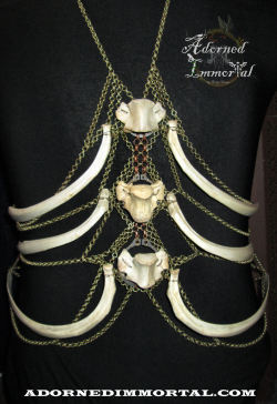 Deer rib and Vertebra Body Harness By Adorned Immortal www.AdornedImmortal.com