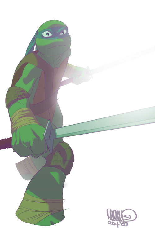 TMNT:Leo by TV series artist, Micah J Gunnell
