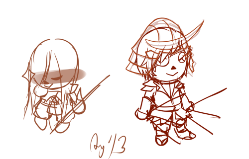 Have some REALLY rough Basara Crossing sketches still working on these… ha  ha  ha
