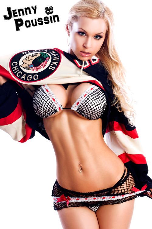 Blackhawks ice girls hockey