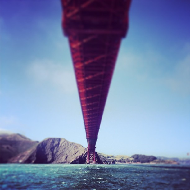 #ocean #goldengatebridge #goldengate #sanfrancisco #california #bayarea  (at Under Golden Gate Bridge)
