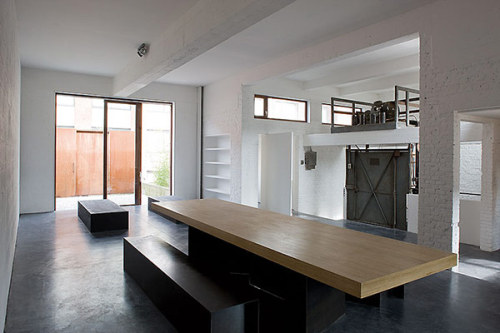 plastolux:  Cardboard factory turned modern industrial loft by AABE