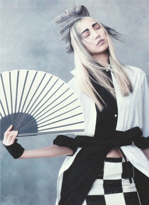 "sfilate:    Soo Joo in ""Martial Arts"" photograph by Hyea-Won Kang for Vogue Korea, June 2013"