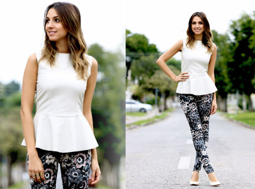 White Peplum. (by Ivi C.)More on blog! www.styleupdate.com.br