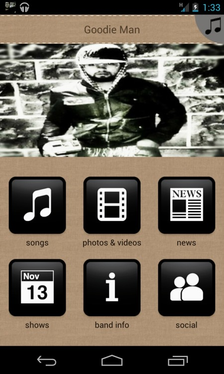 #GMapp #goodieman app for #android powered by @reverbnation featuring @Goodie_man and various artists #hiphop #flexin $trictly Money Gang