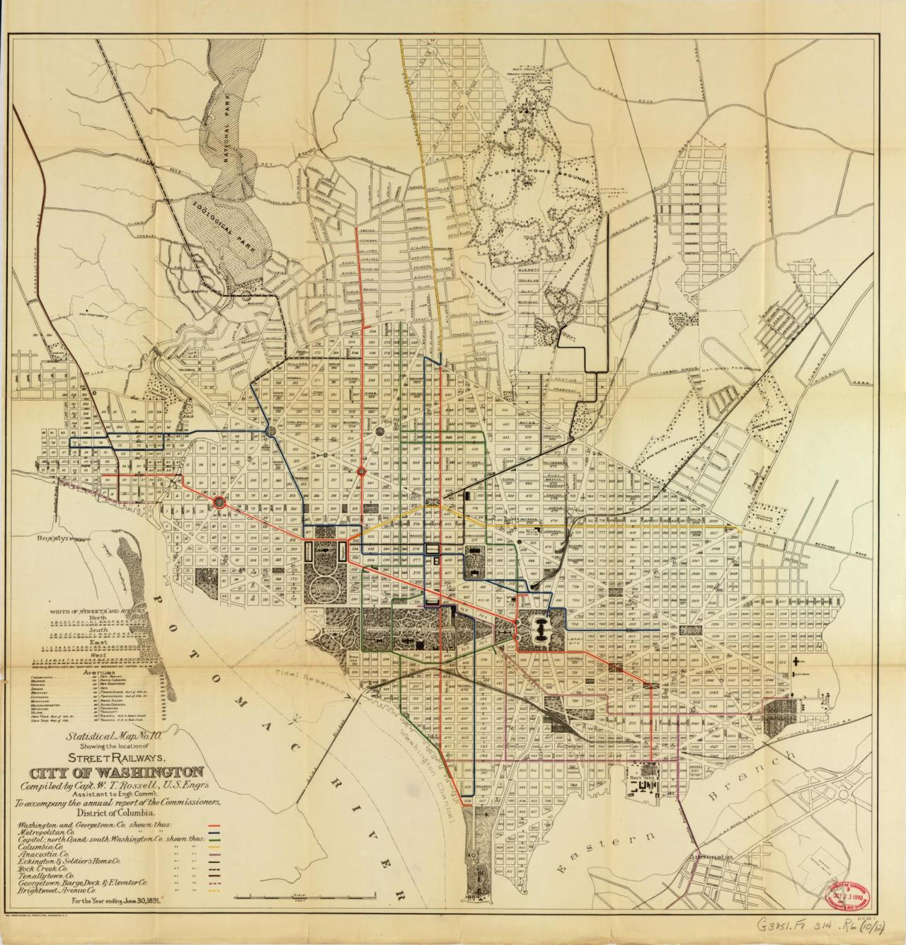 Historical Map Street Railways City of Transit Maps