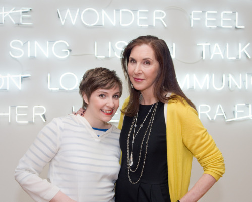 Lena Dunham and her Mother Address Girls Criticism - Buzzfeed Shift I covered yesterday's event at the MFA for Buzzfeed.  Over 2 years ago I interviewed Lena and could barely get her in the paper because she wasn't famous yet. Well, look who's ballin' now, betches.