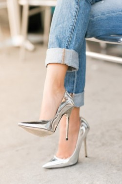 theglitterguide:  5 Things to Try This Weekend: Rock Metallic Heels!