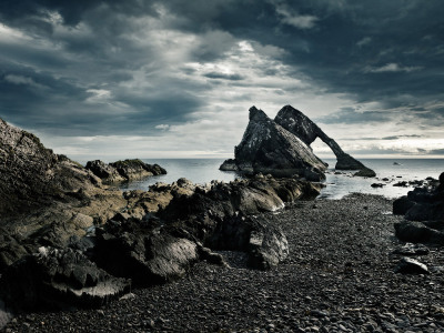 juliancalverley:  Bow Fiddle Rock, Portknockie, N.E. Scotland - One of a series of shots commissioned by the Bank of Scotland for use on their range of credit and debit cards.