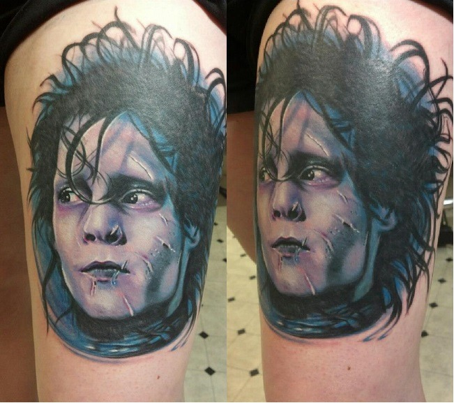 fuckyeahtattoos:  My lovely Edward Scissorhands portrait! Done by Emily Asylum at 717 Tattoo in Mechanicsburg, PA.