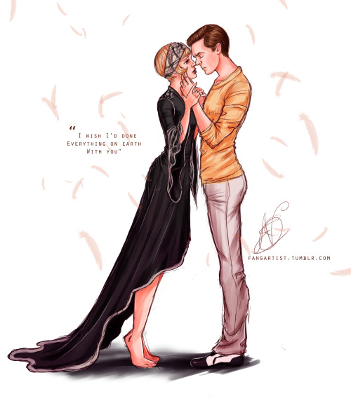carolineerose26:  fangartist:  I watched the Great Gatsby…  okay i dont normally like to reblog drawings but this is really freaking good  OMG FOR REALS?????? Honoured <3
