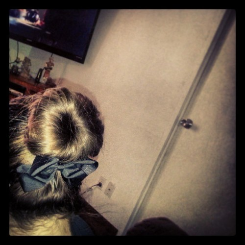 Seems I have mastered the #sockbun #yay