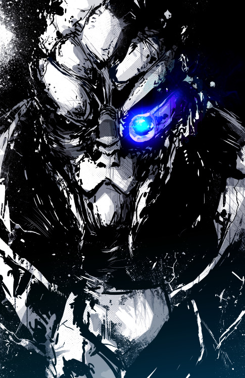 Working on a new Garrus drawing tonight