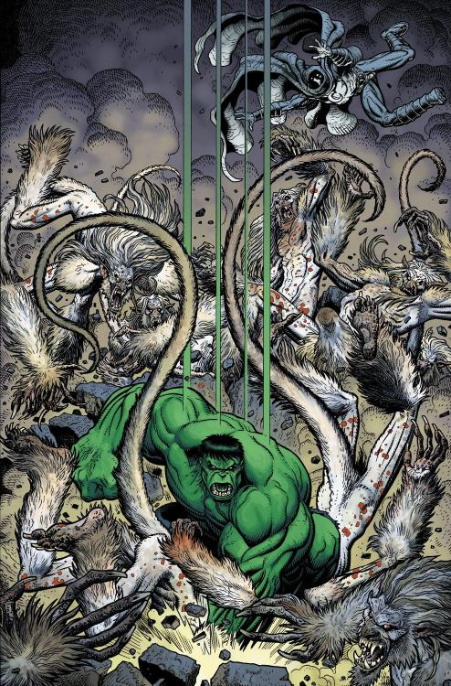brianmichaelbendis:     The Hulk SMASHES by Art Adams