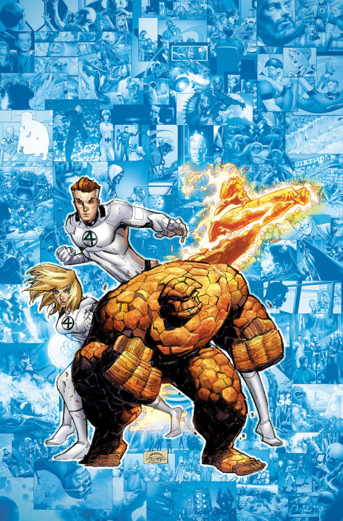The Fantastic Four // artwork by Ryan Stegman (2012)