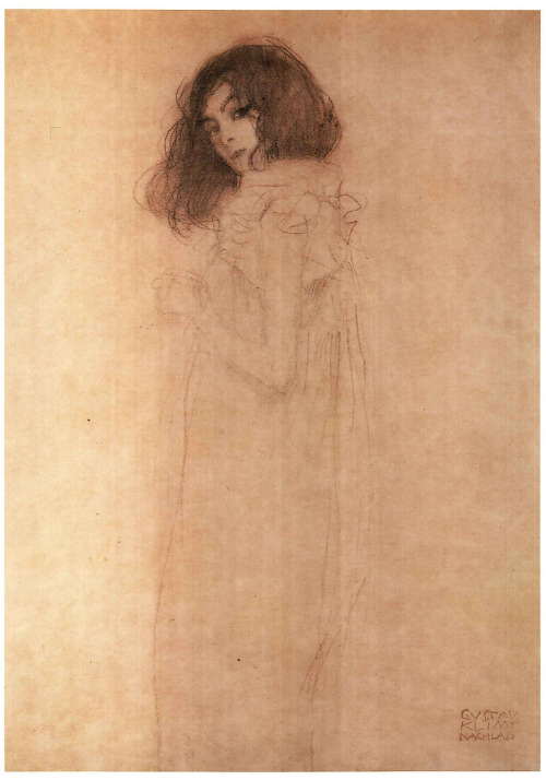 obscurantisme:  Gustav KlimtPortrait of a young womanc. 1896