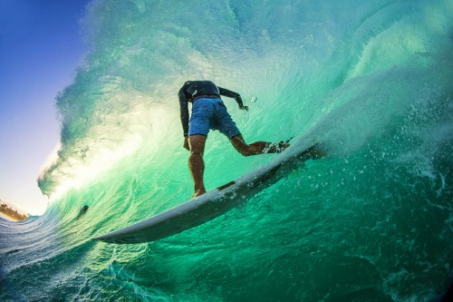 Tyler Newton Off The Wall Pipeline North Shore Oahu Hawaii surf surfing barrel curl carve hand drag underbelly backlit ocean wave canopy photog Zak Noyle Surfer Magazine 2015 SURPHILE photo