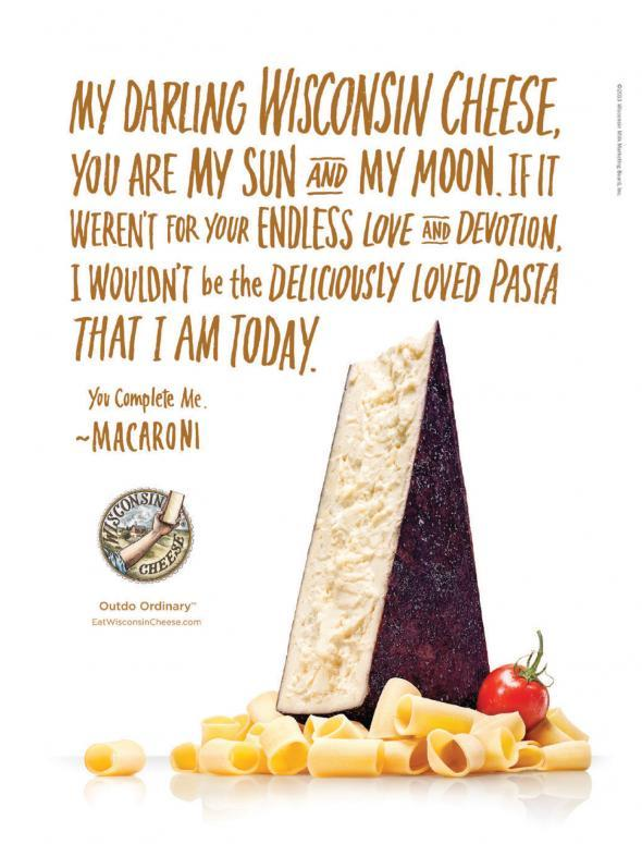 My darling Wisconsin cheese, agence Shine United