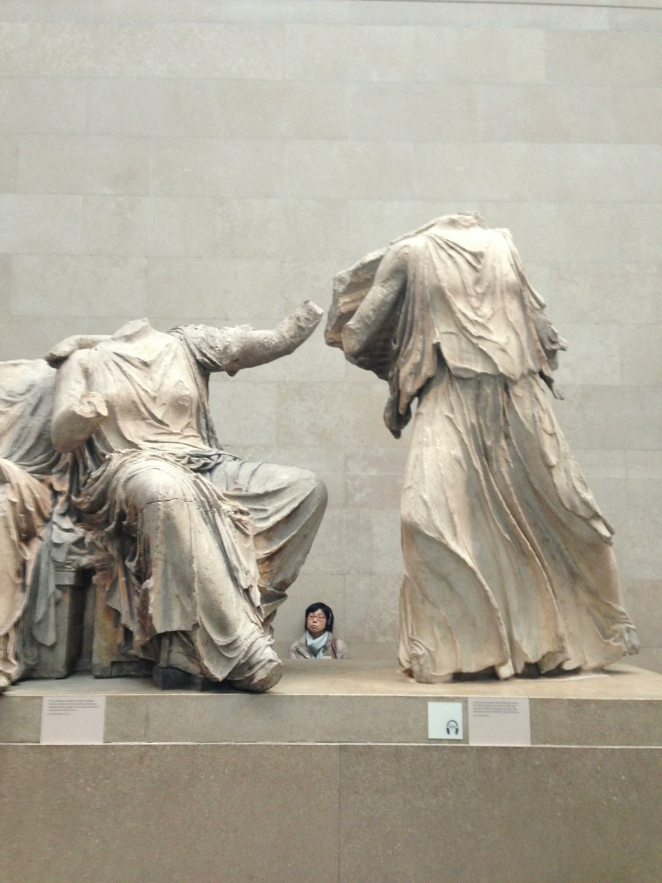 Elgin Marbles. British Museum, London. (Looted by Lord Elgin  from Athens, Greece).