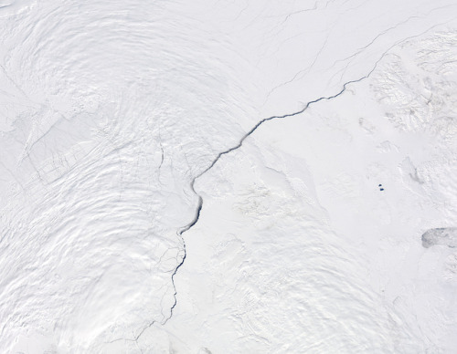 Open water lead above Canada, Arctic Ocean on Flickr.