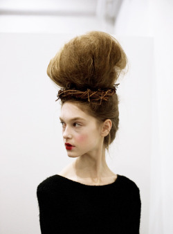 bienenkiste:  Thom Browne Fall/Winter 2013 backstage  queen of the dying